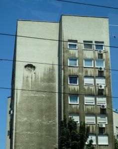 Evidence of the Bosnian War.