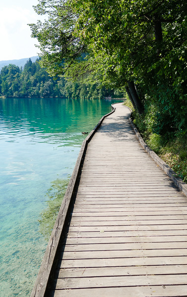 One portion of the path around Lake Bled.