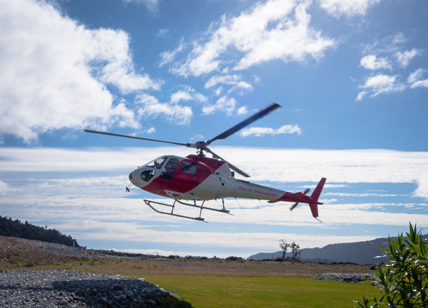 The helicopter that brought us to the top of the glacier was the same kind of helicopter that has landed on Mount Everest. It is specially made for those mountain conditions.