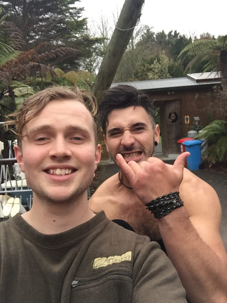 These were our guides for the Black Water Rafting. They thought they were being clever by taking selfies of themselves instead of our picture. Jokes on them!