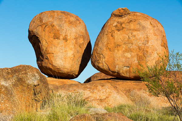 Just a couple of the precariously positioned boulders found at the Devil's Marbles tourist site.