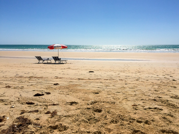 View of Cable Beach - we're relaxed just looking at it!