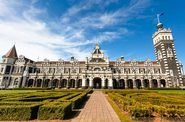 The Dunedin train station is beautiful inside and out.