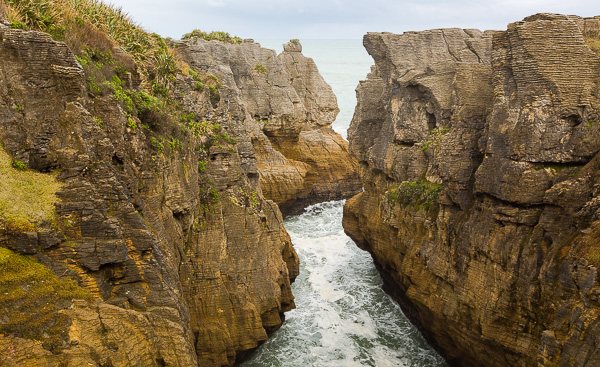 One of the many beautiful views in Punakaiki.