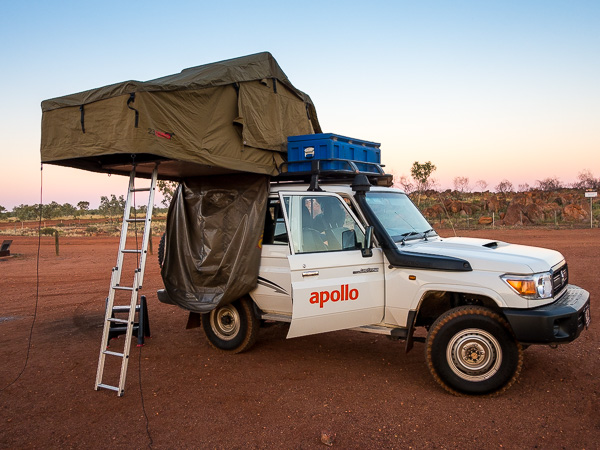It was neat to sleep in our rooftop tent, but not cool, as temperatures reached nearly 110 degrees Fahrenheit.