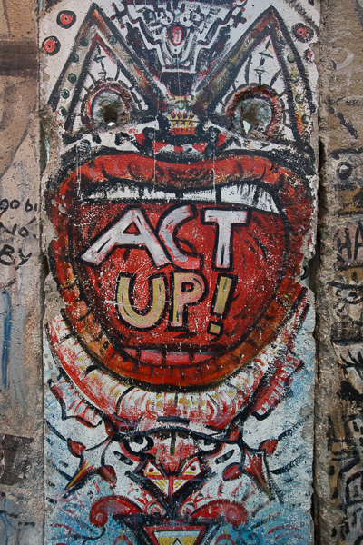 A piece of The Berlin Wall with some fitting graffiti, found at the Newseum in Washington D.C.