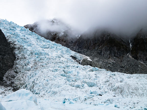 The tears of Hine, also known as the Franz Josef Glacier.
