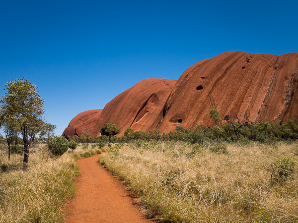 View of the path for the Uluru Base Walk. It isn't strenuous, but it is beautiful.