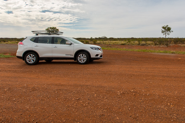 Our car that we rented in Alice Springs. Contrary to the picture, it didn't have a tree growing out of its roof.