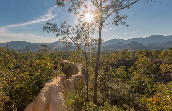 An adventurous spirit is a must when visiting the Pai Canyon, just check out that path.