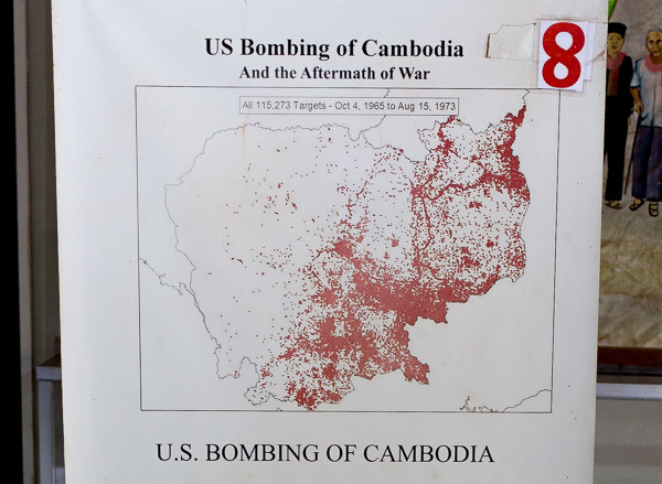 Each red dot marks a target that was bombed. More than 115,000 targets are shown.
