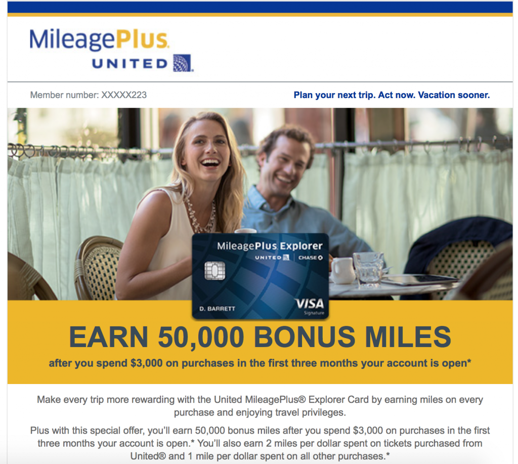 Travel hacking bonus mile offer