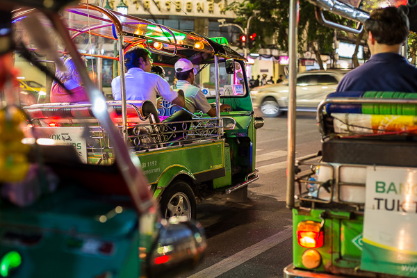Different versions of Tuk Tuks can be found in most of the countries in Southeast Asia.