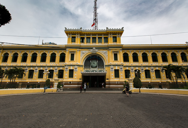 This post office in Ho Chi Minh City, Vietnam is a perfect example of colonial architecture found around Southeast Asia.
