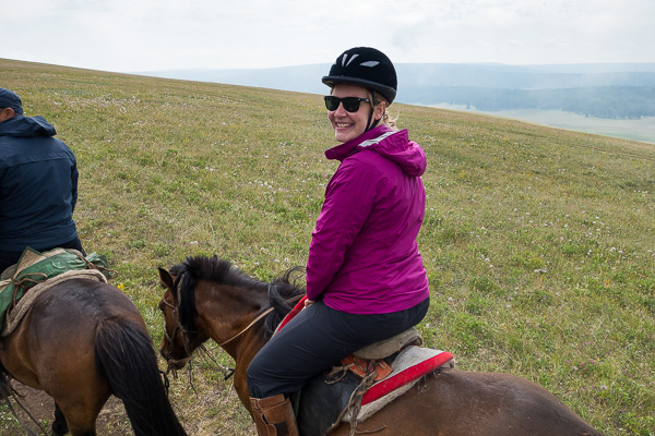 "A photo of me on my horse. We obviously didn't take any after ""the incident."""