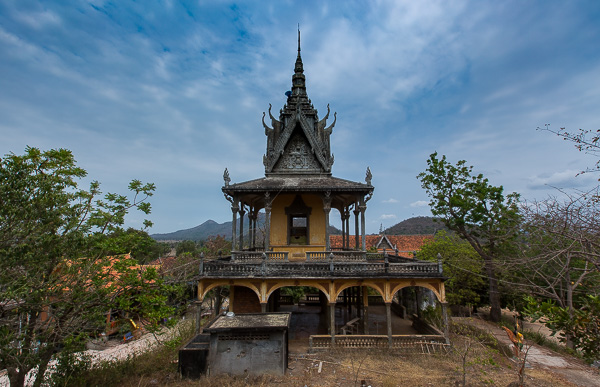 This rundown temple in Kampong Leaeng, Cambodia was being worked on by the monks to restore it to its former glory. Although even in ruins it was a special place.