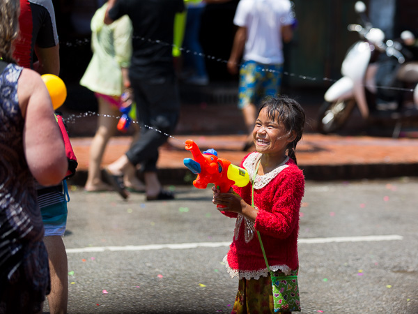 A little taste of Pimai, Laos' New Year. Waterfights for three straight days during the hottest part of the year are thought to wash away the bad from the previous year.
