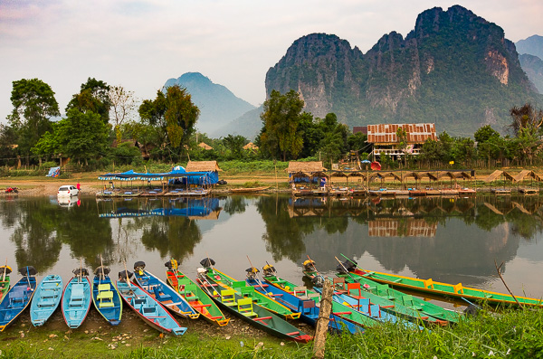Longboats, like the ones seen above, cruise the waterways all across Southeast Asia.